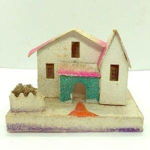 Vintage Christmas Village House, Made in Japan